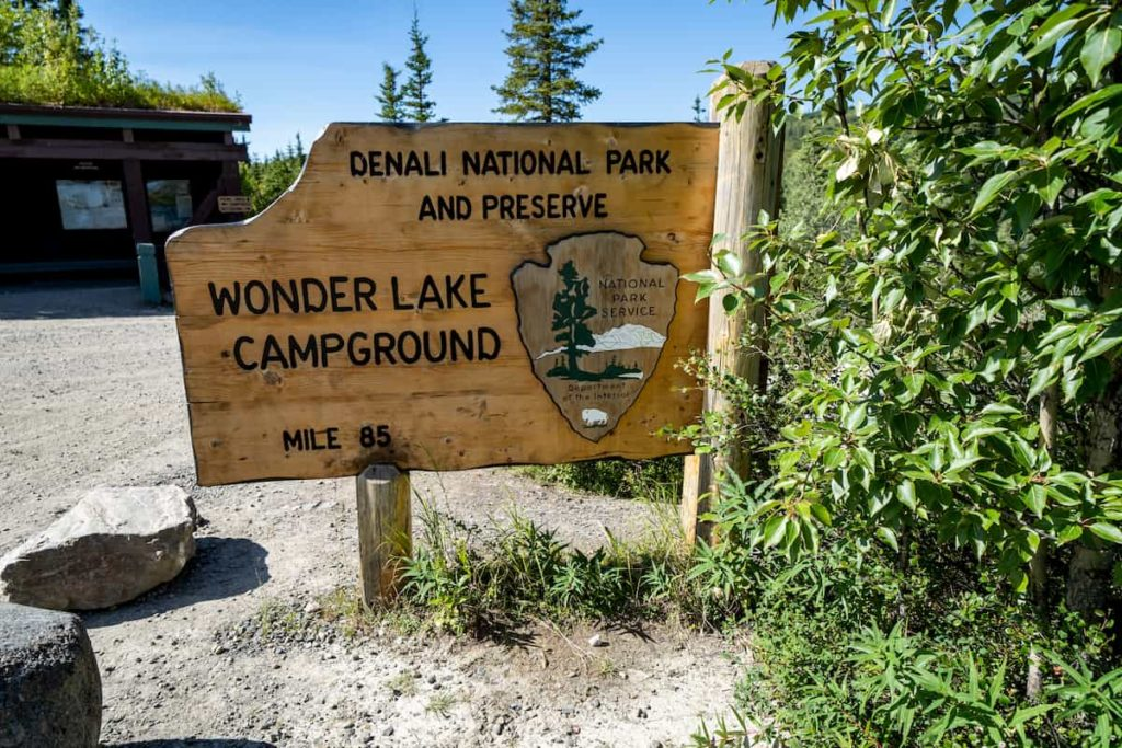 How Much Does Camping Cost - Campground sign at Denali in Alaska