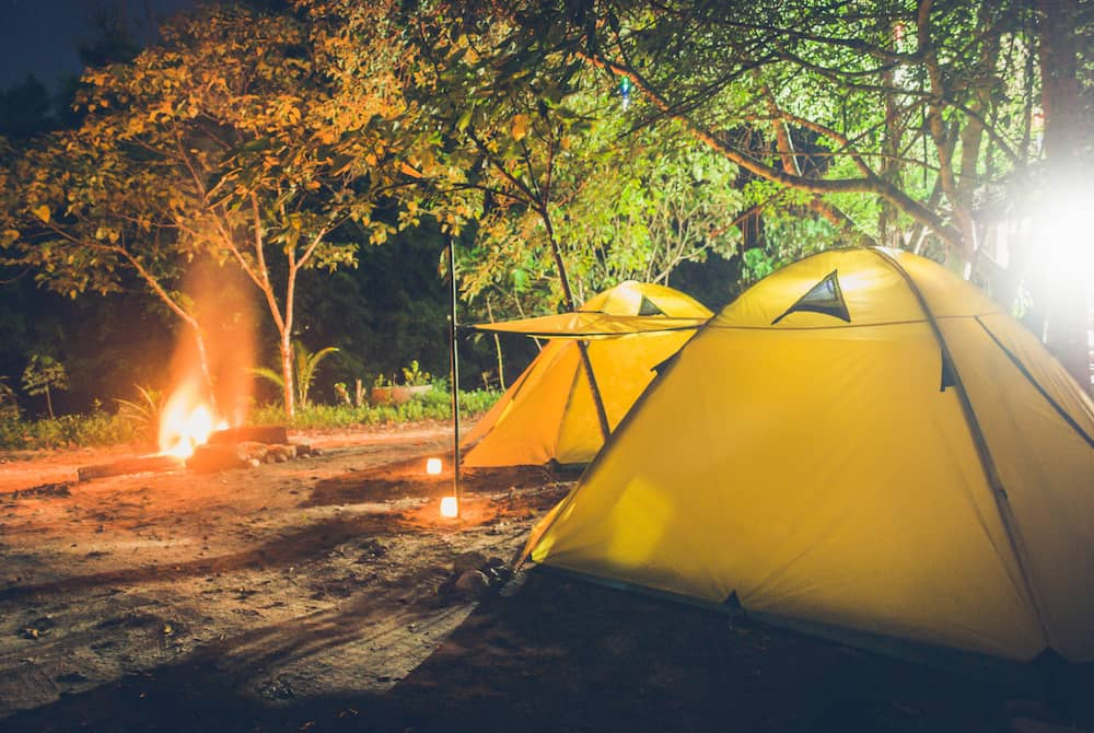 What Is Thru-Hiking vs. Backpacking - Camping with 2 yellow tents