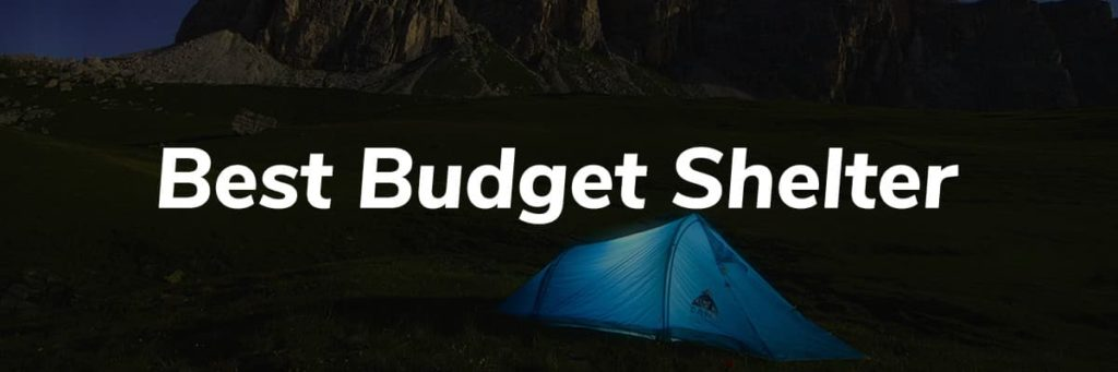 Best Budget Shelter Header - Pacific Crest Trail Thru Hike Gear List