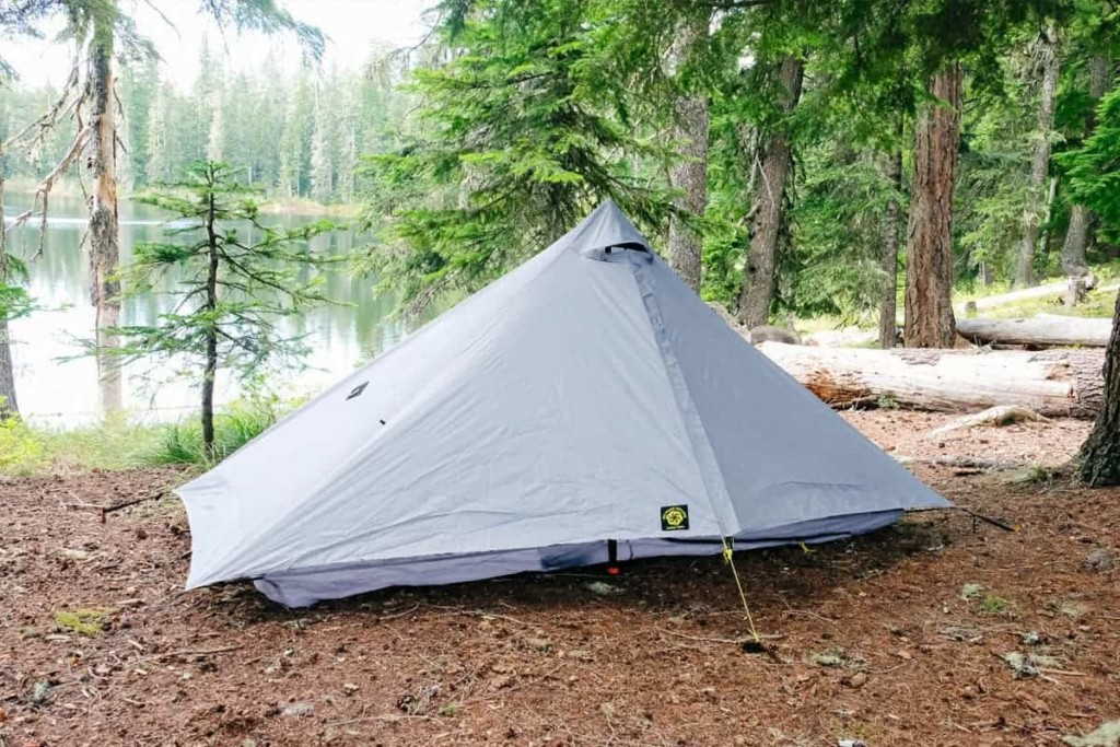 Six Moon Designs Lunar Solo tent in the woods - Six Moon Designs Lunar Solo Review